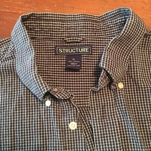 Structure Shirts - ‼️Men's Structure, casual plaid button down.